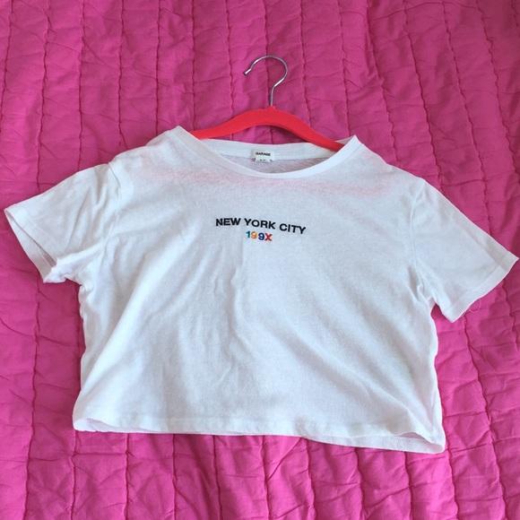Garage Tops - Cropped white shirt